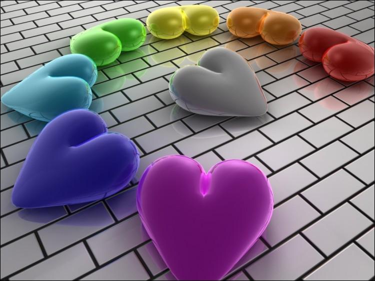 De quelle couleur est le coeur du milieu ?