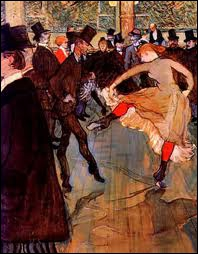 Henri de Toulouse-Lautrec a peint Montmartre, le Moulin Rouge et ses danseuses. Quelle est l'intruse ?
