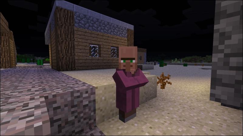 Quel est le métier de ce villageois ?