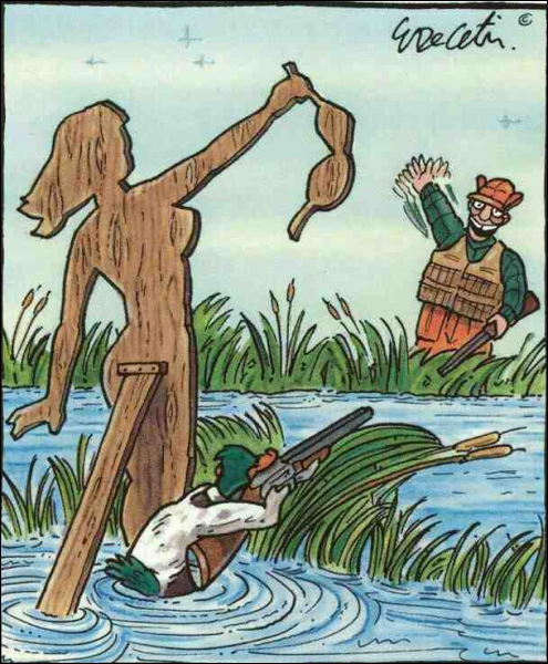 Ce matin, un canard a tué un chasseur !