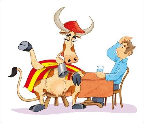 Complétez cette locution : Parler français comme une vache...
