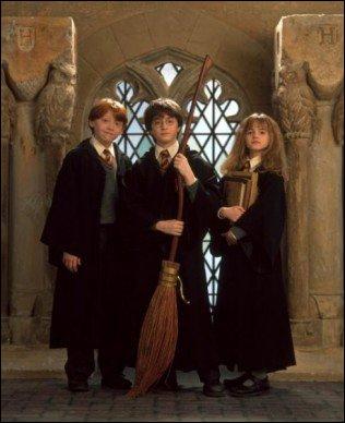 Où rencontre-t-elle Harry et Ron ?