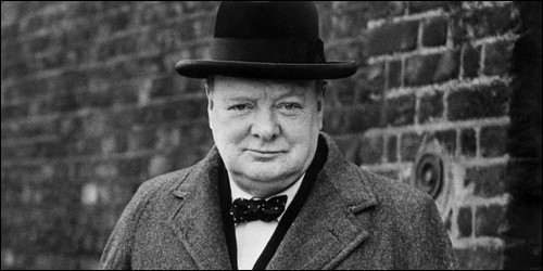 Quel homme politique britannique a parlé d'un rideau de fer ?