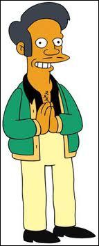 Que répète inlassablement Apu à ses clients lorsqu'ils sortent du magasin après leurs achats ?