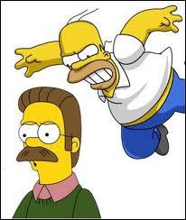 Quelle est l'insulte préférée d'Homer envers Ned Flanders ?