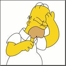 Quelle est l'exclamation de dépit ou d'abattement que prononce souvent Homer lorsqu'il fait une gaffe ?