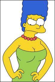 Que grommelle Marge lorsqu'elle est contrariée par son mari ?