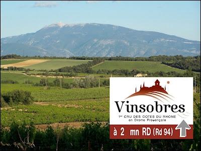 Le vignoble de Vinsobres est très apprécié dans la Drôme.