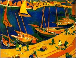 Ce tableau aux couleurs vives, peint par André Derain, est une œuvre...