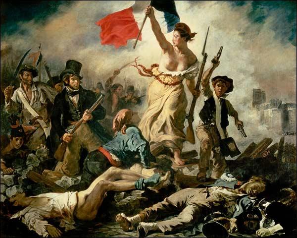 La Liberté guidant le peuple d'Eugène Delacroix, est une...