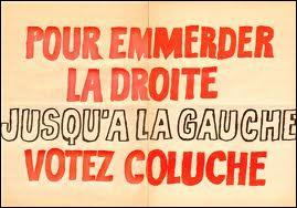 Quel pourcentage d'intentions de vote, Michel Colucci, dit  Coluche  a-t-il crédité en 1980 , lors de sa candidature à la Présidence de la République ?