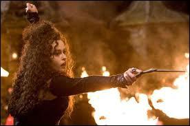 Dans les tomes où elle apparait, quels sont les sortilèges utilisés par Bellatrix ?