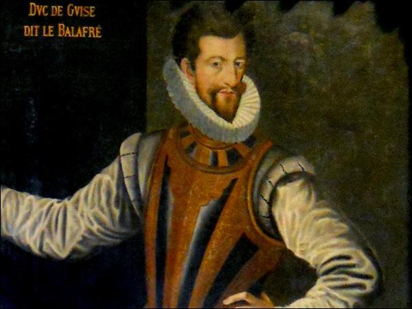 Henri Ier, duc de Guise, dit ''le Balafré'' (1550 / 1588) : Henri III avait donné l'ordre de l'assassiner dans le château de...