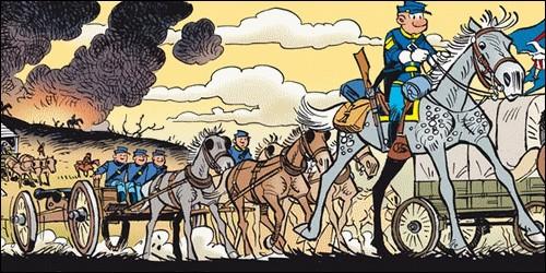 """À quelle époque se déroule l'histoire de la bande dessinée """"Les Tuniques bleues"""" ?"""