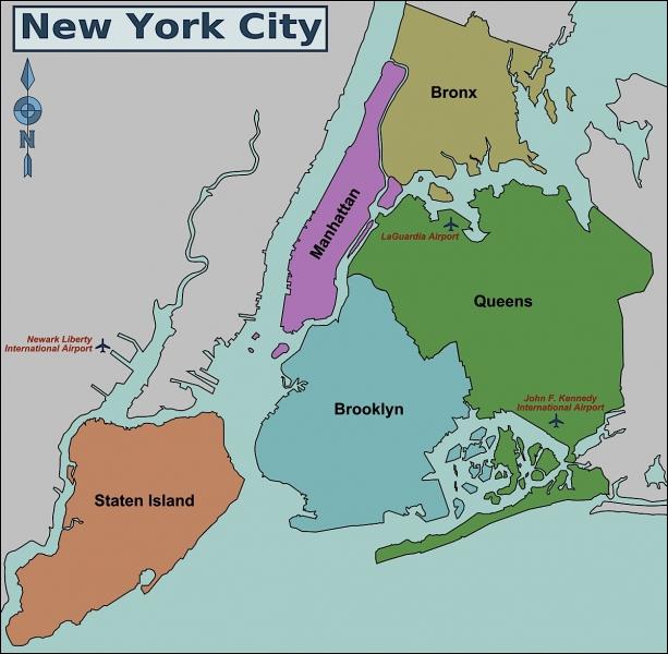 La ville de New York est découpée en ...