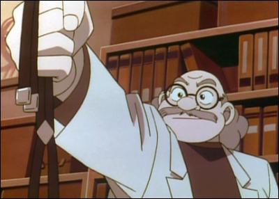 A quoi servent ces bretelles que le professeur tient dans ses mains ?