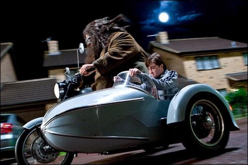 Qu'est ce qui trahi le vrai Harry lors du voyage jusqu'à la maison des Weasley ? (dans le film)