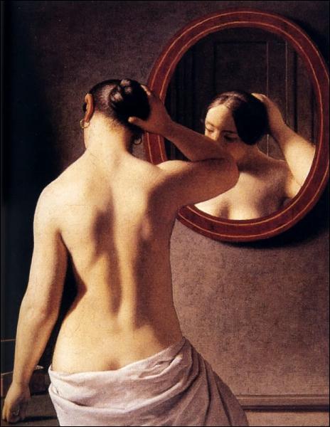 Devant le miroir, 1841
