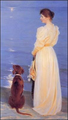 Femme de l'artiste et leur chien Rap, 1899