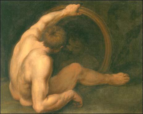 Homme devant un miroir, 1668