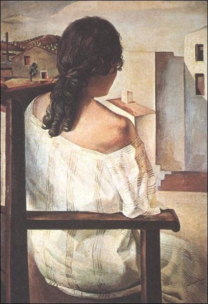 Jeune fille assise de dos, 1925