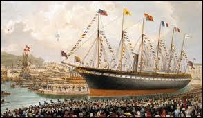 Combien d'heures a duré la traversée de l'océan Atlantique par le Great Britain en 1852 ?