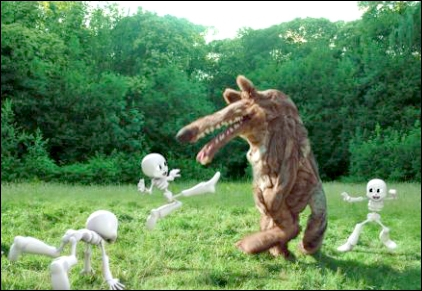 Pour quelle campagne publicitaire peut-on entendre l'histoire de  Paf, paf, paf, le loup  ?