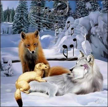 Quelle chanson commence par  C'est dans dix ans, je m'en irai, J'entends le loup et le renard chanter