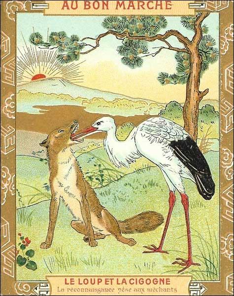 Dans la fable de Jean de la Fontaine, que retire la cigogne de la gueule du loup ?