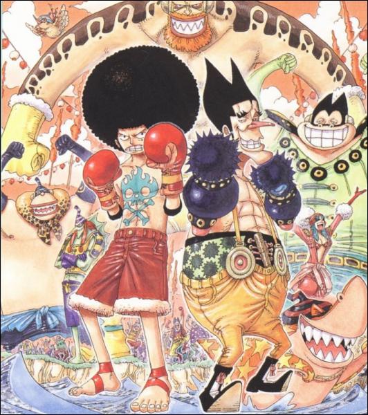 Lors du combat contre Foxy, au cours du « Davy Back Fight », la victoire de Luffy réside dans …