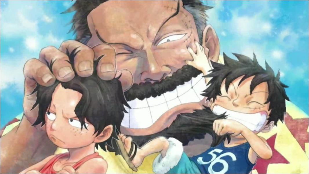 Quand Luffy était petit, quelles personnes ont fait partie de son entourage ?
