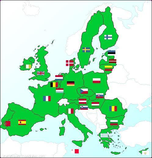 Quel ancien pays communiste ne rentre pas dans l'U.E. le 1er janvier 2004
