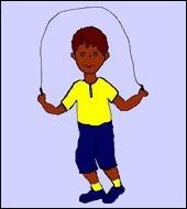 Que fait cet enfant avec cette corde ?