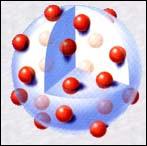 Qui a réalisé ce modèle en tentant d'expliquer la composition d'un atome ?