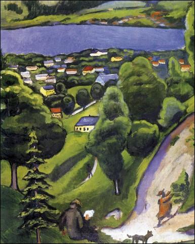 Qui a peint paysage de Tegernsee ?