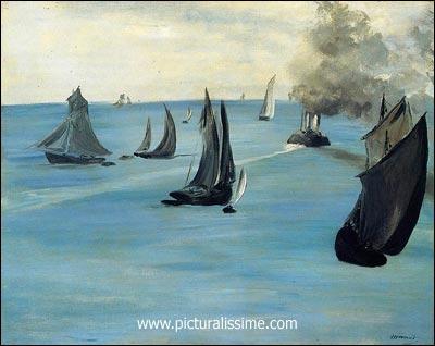 Qui a peint Paysage marin temps calme ?