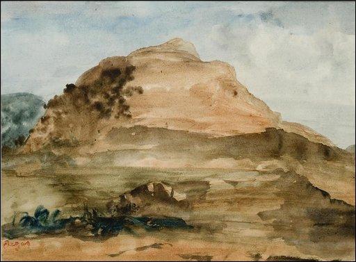Qui a peint Paysage montagneux ?