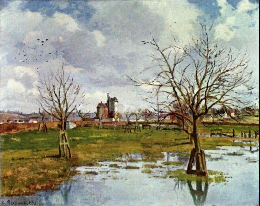 Qui a peint Paysage au champ inondé ?