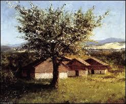 Qui a peint Paysage suisse avec floraison ?