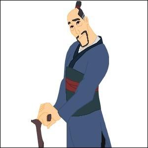 Ce personnage est le père de Mulan, saurez vous retrouver son nom ?