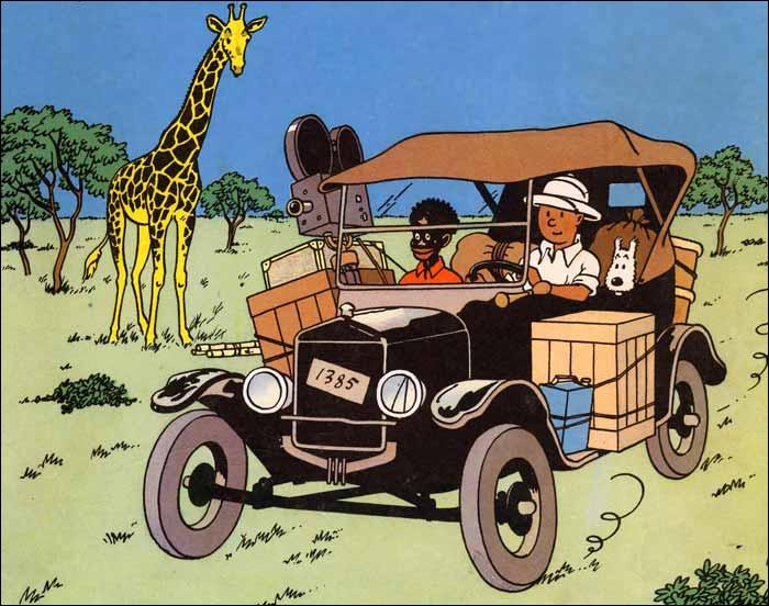 Dans  Tintin au Congo , il utilise un véhicule de Modèle T (1920-25), de quelle marque s'agit-il ?
