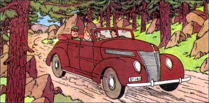 Tintin trouve sur un banc public une serviette appartenant au professeur Halambique !