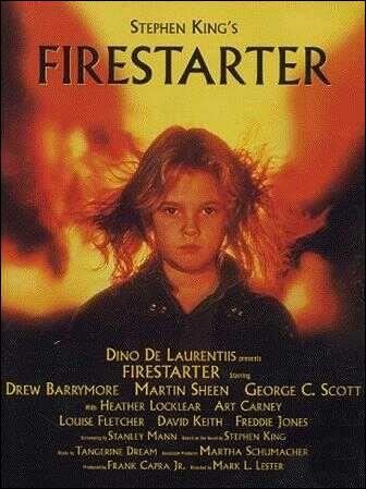 Firestarter est le titre du film , réalisé par Marl L. Lester et l'oeuvre de Stephen King. Comment se nomme cette charmante jeune fille qui a le pouvoir de pyrokénésie ?