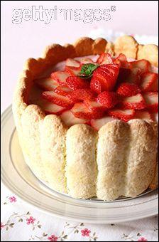 La charlotte (aux fraises par exemple) est un dessert à base de :