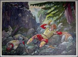 En 778, le chevalier Roland fut tué par les Sarrazins (musulmans) à Roncevaux.