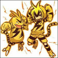 Quel est ce Pokémon électrique représenté sur ce cosplay ?