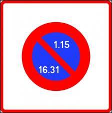 C'est le 16 juillet, ce panneau est implanté où pouvez-vous vous garer ?