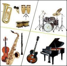 Combien y a-t-il d'instruments de musique ?