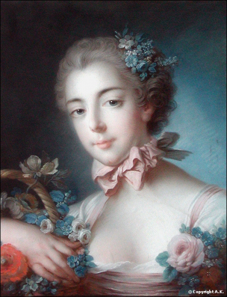 Qui a peint  Jeune fille tenant une corbeille de fleurs  ?