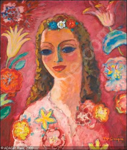 Qui a peint  Femme aux fleurs  ?
